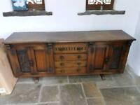Antique hard wood sideboard