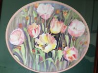 Picture -Signed flowers print by Doreen Gosling (Pott Shrigley) 42 cm wide Limited edition