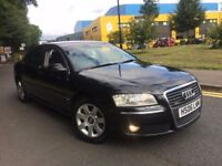 AUDI A8L LIMOSINE 3.1 SE FSI AUTO 2006 SATNAV KEYLESS HEATED LEATHER FRONT+REAR SEATS PARKING SENSOR