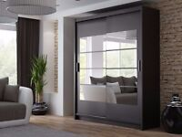WARDROBE, SHELVES, RAIL, DRAWERS, STORAGE, DECORATIVE MIRRORS, DIFFERENT COLOURS, DELIVERY AVAILABLE