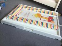 Cot top changer and change Mat