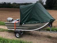Seastrike 10ft Semi-Flat Bottom Aluminium Fishing/Day Boat Package
