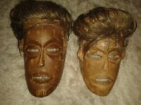 antique african masks