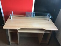 2 x Computer desk with keyboard drawer