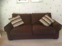 3 seater bed settee - excellent condition.