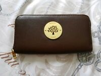 Coffee colour Mulberry purse