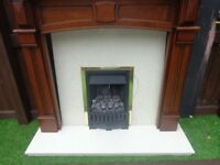 Gas Fire, Hearth and Wooden Surround