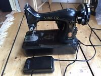 Vintage 1950s? Class 99K Singer sewing machine + orig cover, Good working order, collect from EH10