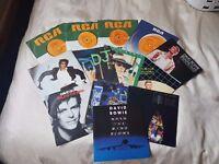 "14 David Bowie 7"" singles"
