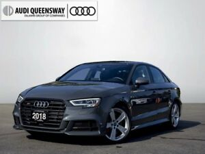 2018 Audi S3 2.0T Technik, Savings, Tech Package, Black Optics