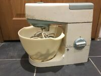 Kenwood chef with three attachments Vintage original A701A