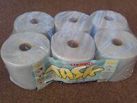 Pack of 6 blue rolls