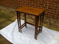 Nest Of 2 Tables (Coffee Tea Cup Drink Cake Side WOODEN) ##FREE LOCAL DELIVERY##