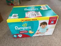 Pampers 76 box size 6