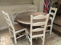 Barker and Stonehouse Table and 5 Chairs