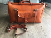 Genuine leather medical style bag L50xW22xH25cm