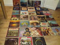 """Job lot mixed artists Vinyl 12"""" Doubles, Singles and 7"""" with turntable"""