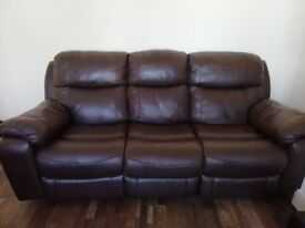 3 piece x2 full leather sofa for sale . Only had them for a year . Bought from Harvey's .