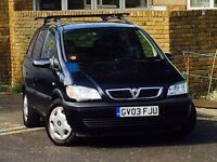 VAUXHALL ZAFIRA 1.6 DESIGN*LOW MILEAGE*SERVICE HISTORY*MOT*CAMBELT CHANGED AT 59,000*3MONTH WARRANTY