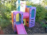 Childrens Garden Slide and climbing unit combined.