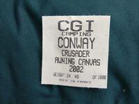Conway Crusader Awning - No frame poles!