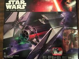 The force awakens exclusive ship & figure NEW sealed box now discontinued collector toy tie fighter