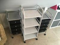 X3 Beauty Trolleys Shelves Drawers Pick Up Derby