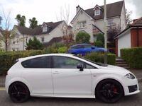 (2011) SEAT LEON CUPRA R 300 BHP+ WHITE LOW MILEAGE, FSH, 7 STAMPS+RECEIPTS, HUGE SPEC, NAV, LEATHER