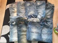 9 pairs of mens jeans