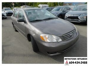 2004 Toyota Corolla LE; Local BC vehicle!