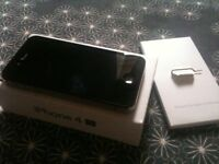 Apple iPhone 4s black can unlocked open any network 02 o2 giff gaff tesco 32 gig gb