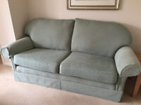 SOFA, 2 ARMCHAIRS AND FOOTSTOOL