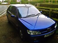 SOLD - Top of the line Peugeot 306 Meridian Five door in Deep blue with Sports package 7 mnths MOT