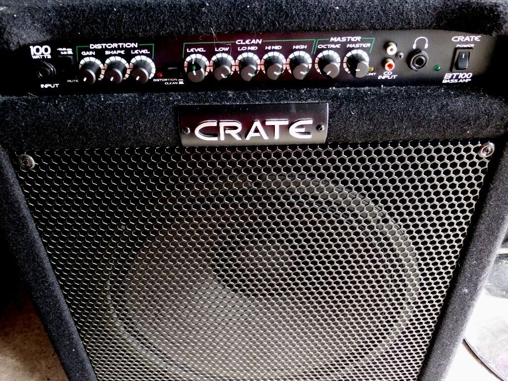 crate bt100 bass amp in east end glasgow gumtree. Black Bedroom Furniture Sets. Home Design Ideas