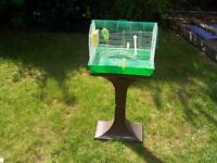 Bird Cage (budgie cage) with Stand for Birds / Budgies (2 cages and 1 stand)