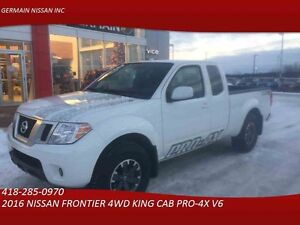 2016 NISSAN FRONTIER 4WD KING CAB PRO-4X AUTO-GPS-CLIMATISATION