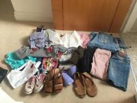 Huge bundle of girls clothes age 8-10. Shoes, jeans, tops. Converse, Fat Face, River Island, Next,