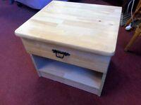 Bedside Drawer - Solid Pine 1 Drawer Quality Bedside Drawer / Cabinet