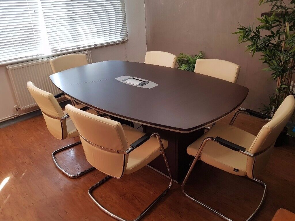 Fine Impressive Italian Boardroom Meeting Conference Table With Cable Management Seats 6 8 In Orpington London Gumtree Home Interior And Landscaping Ponolsignezvosmurscom