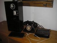 A B Coin Box & GPO 232 Telephone / Bell Box - Jubilee Red Kiosk K6 King Pyramid