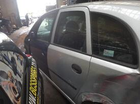 Vauxhall Meriva mk1 passengers rear door in silver
