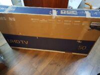 BOXED SAMSUNG 50-inch UHD 4K HDR Smart LED TV-UE50MU6120,INBUILT Wifi,Freeview,Netflix,Fully Working