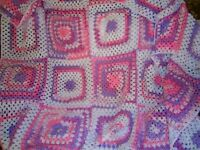 Woollen crocheted blankets