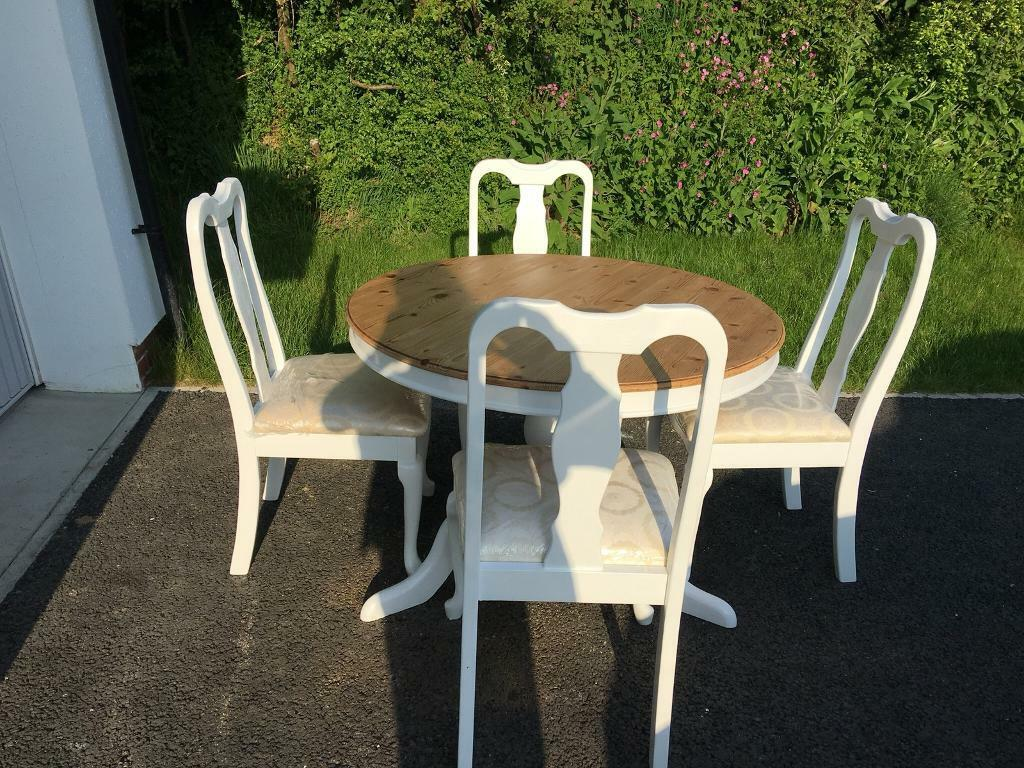Shabby chic table and chairs launceston