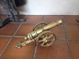 Old Large brass cannon heavy 20cmx12cmx10cm