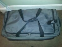 Large Grey Holdall Sports Travel Bag