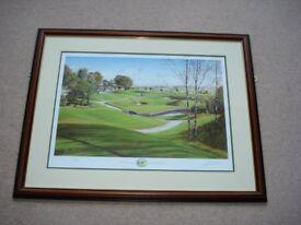 Limited Edition Graeme Baxter 1999 Newmachar Signed Print, 341/500, VGC