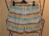 Easy Surf Co Striped Men's Swim Shorts. Size Medium.