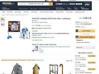 Inflatable remote controlled star wars R2D2