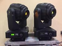 Showtec Indigo 4500 LED Moving Head Lights - Pair - With Flight Case